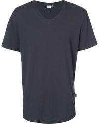 Camiseta con cuello en v en gris oscuro de Onia