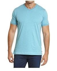 Camiseta con cuello en v en turquesa de Robert Graham