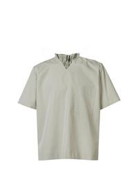 Camiseta con cuello en v en verde menta de Craig Green