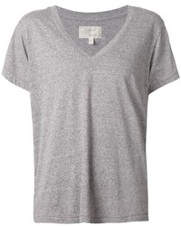 Camiseta con cuello en v gris de Current/Elliott