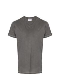 Camiseta con cuello en v gris de Dondup
