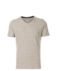 Camiseta con cuello en v gris de Eleventy