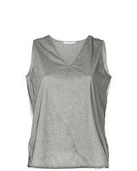 Camiseta con cuello en v gris de Fabiana Filippi