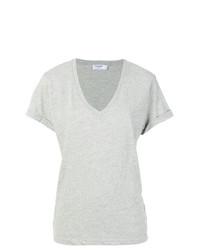 Camiseta con cuello en v gris de Frame Denim