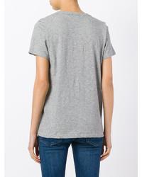 Camiseta con cuello en v gris de Rag & Bone