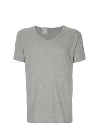 Camiseta con cuello en v gris de N. Hoolywood