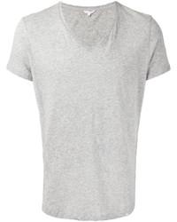 Camiseta con cuello en v gris de Orlebar Brown