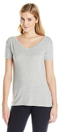 Camiseta con cuello en v gris de RD Style