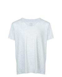 Camiseta con cuello en v gris de SAVE KHAKI UNITED