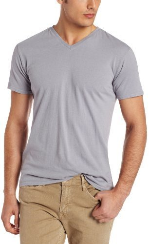 Camiseta con cuello en v gris de Threads 4 Thought