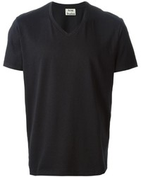Camiseta con cuello en v negra de Acne Studios