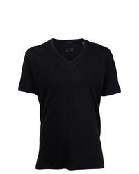 Camiseta con cuello en v negra de ATM Anthony Thomas Melillo