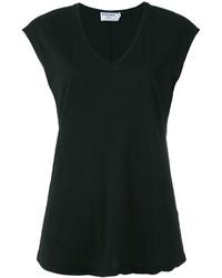 Camiseta con cuello en v negra de Frame