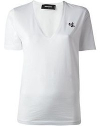 Camiseta con cuello en v
