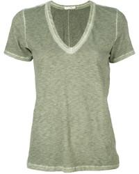 Camiseta con cuello en v verde oliva de Rag & Bone