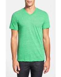 Camiseta con cuello en v verde