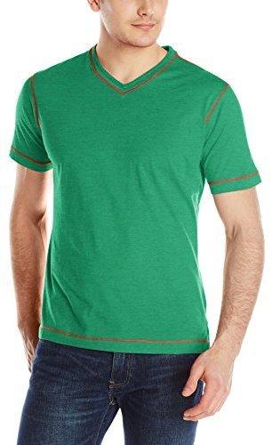Camiseta con cuello en v verde de Robert Graham