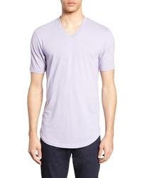 Camiseta con cuello en v violeta claro original 11345243