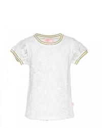 Camiseta de encaje blanca
