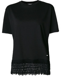 Camiseta de encaje negra de Dsquared2
