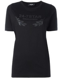 Camiseta de estrellas negra de Dsquared2