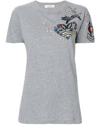 Camiseta de Lentejuelas Gris de Valentino