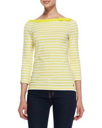 Camiseta de manga larga amarilla