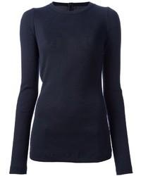 Camiseta de manga larga azul marino