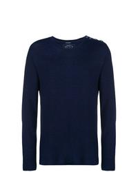 Camiseta de manga larga azul marino de Balmain