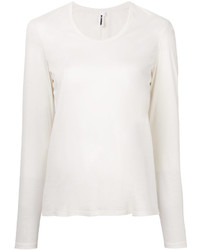 Camiseta de manga larga blanca de Jil Sander