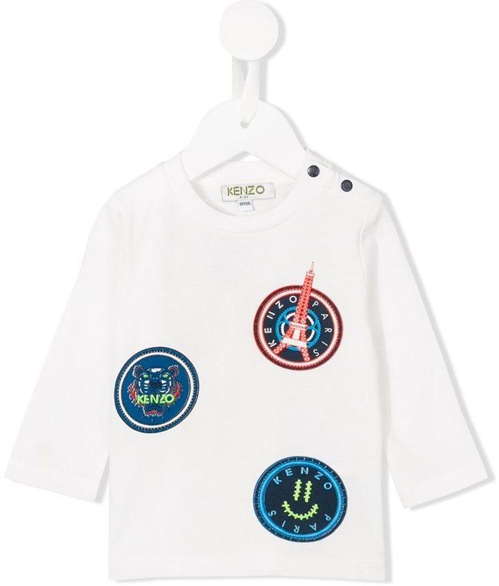 Camiseta de manga larga blanca de Kenzo