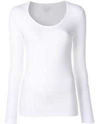Camiseta de Manga Larga Blanca de Majestic Filatures