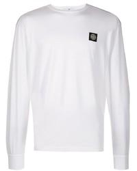 Camiseta de manga larga blanca de Stone Island