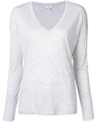 Camiseta de manga larga blanca de Vince