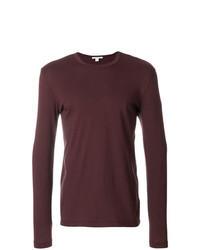 Camiseta de manga larga burdeos