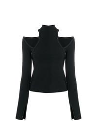 Camiseta de manga larga con recorte negra de Beaufille