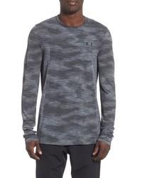 Camiseta de manga larga de camuflaje en gris oscuro