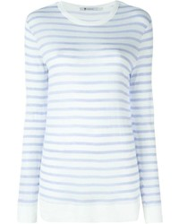 Camiseta de manga larga de rayas horizontales en blanco y azul de Alexander Wang