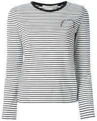 Camiseta de manga larga de rayas horizontales en blanco y negro de Marc Jacobs