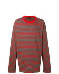 Camiseta de manga larga de rayas horizontales en multicolor de Diesel