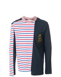 Camiseta de manga larga de rayas horizontales en multicolor de JW Anderson