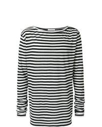 Camiseta de manga larga de rayas horizontales en negro y blanco de Faith Connexion