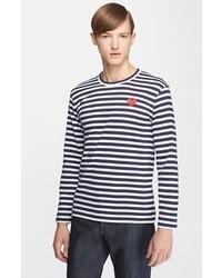 Camiseta de manga larga de rayas horizontales