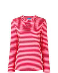 Camiseta de manga larga de rayas horizontales rosa de MiH Jeans
