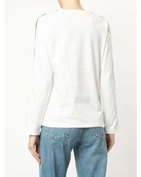 Camiseta de Manga Larga de Rayas Verticales Blanca de GUILD PRIME