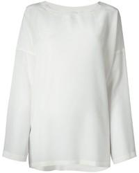 ef0c26e682 Comprar una camiseta de manga larga de seda blanca  elegir camisetas ...