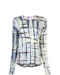 Camiseta de manga larga efecto teñido anudado en multicolor de Proenza Schouler