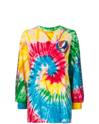 Camiseta de manga larga efecto teñido anudado en multicolor de R13