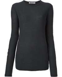 Camiseta de manga larga en gris oscuro de Alexander Wang