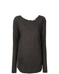 Camiseta de manga larga en gris oscuro de Humanoid